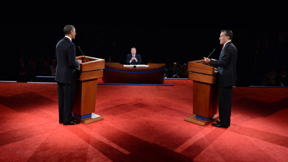 Jim Leher of PBS moderates the 90-minute debate on Wednesday. It was the candidates