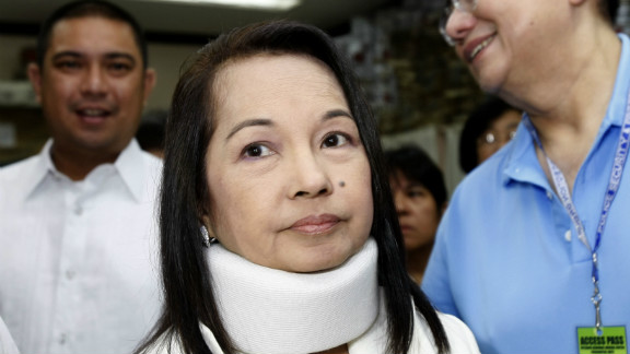 Former Philippine President and now Congresswoman Gloria Macapagal Arroyo was arrested on corruption charges.