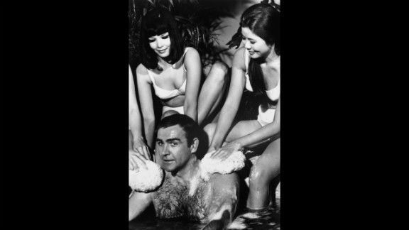 "Connery surrouned by bathing beuties in ""You Only Live Twice"" in 1966."