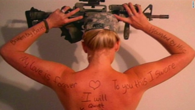 2013: Military wives topless for PTSD