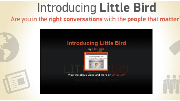 Little Bird, released in a limited beta version, seeks to point users toward social media accounts they