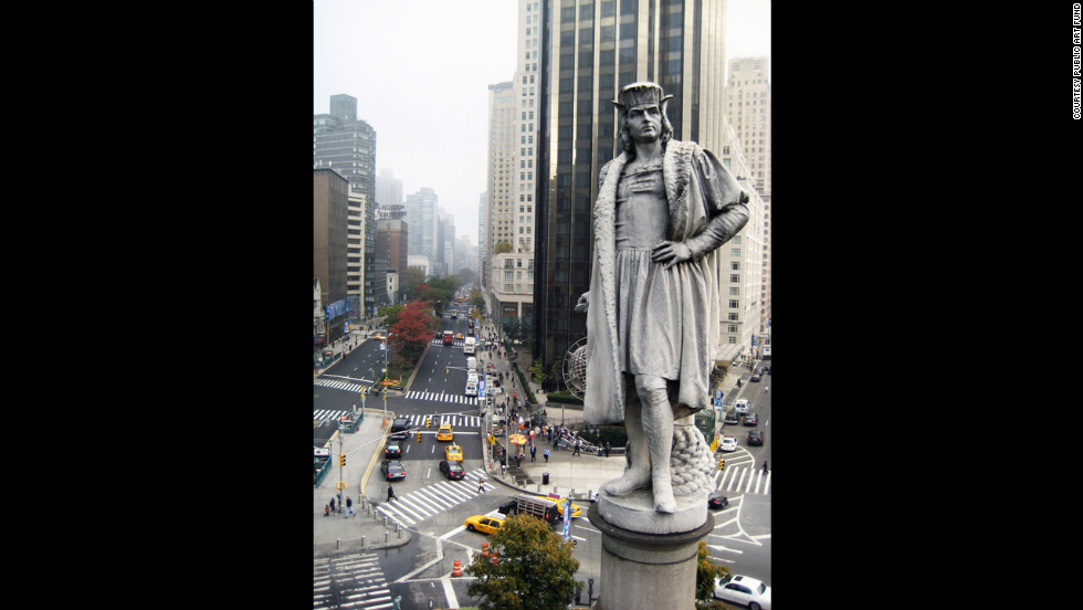 The original statue has overlooked a Manhattan traffic circle for 120 years.