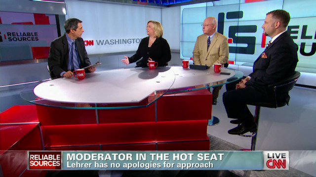 Moderator on the hot seat