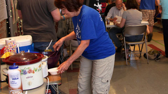 A crockpot, like the one in this photo from a campaign event in La Crosse, Wisconsin, produces amazing meals with minimal effort, users said.