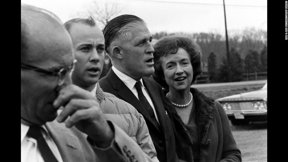 George Romney, then governor of Michigan, with his wife, Lenore, in November 1963.
