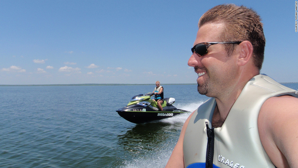 David Hartley and his wife, Tiffany, had used personal watercraft on Falcon Lake just a month before the tragic day in September 2010 when investigators believe they wandered into the middle of a drug trade. David was shot and killed by suspected Mexican drug pirates and Tiffany escaped, according to her account.