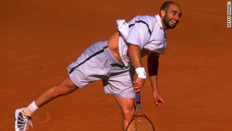 Agassi at the 1999 French Open (Photo: Getty Images)