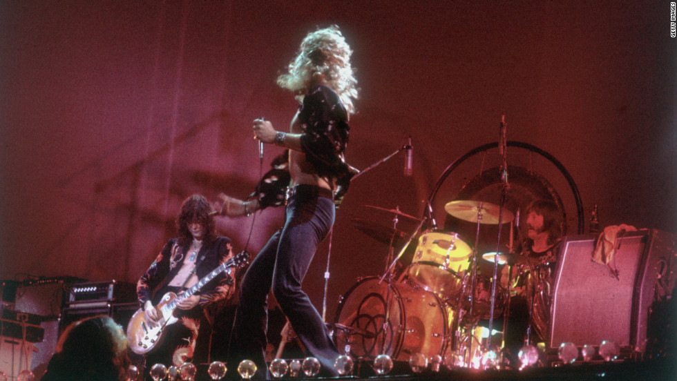 Led Zeppelin's Jimmy Page, Robert Plant and John Bonham perform in 1977. The legendary British rock group disbanded after Bonham's death in 1980 but remains one of the most influential bands of its era. A promoter allegedly offered Page, Plant and bassist John Paul Jones $800 million for a reunion tour, but Plant reportedly turned it down.