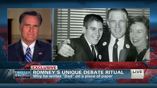 Romney on debate inspiration from his father