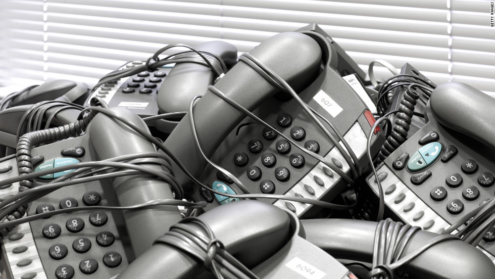 "Landlines, another way to be ""chained"" to the office, were thought  to be become obsolete by 35% of Linked In's surveyed professionals."