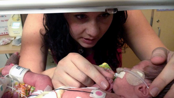 Ashley Adams received a double dose of the fertility drug Clomid before conceiving.