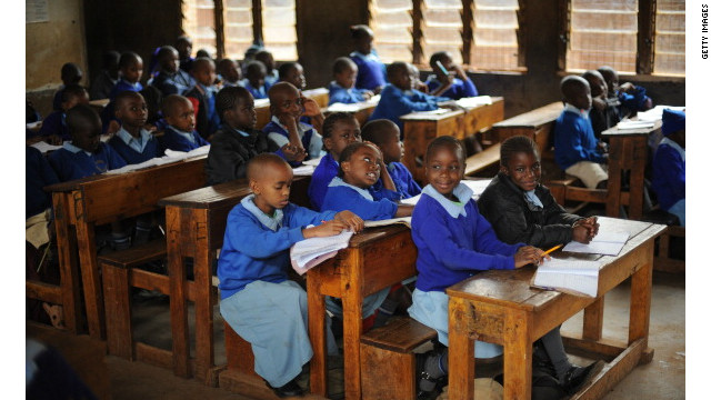 Pupils at a primary school in Nairobi