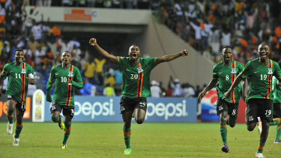 Earlier this year Zambia won the Africa Cup of Nations for the first time after beating the Ivory Coast 8-7 in a dramatic penalty shootout in Sunday's final in Libreville.