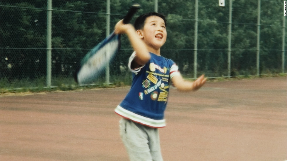 Kei Nishikori was inspired to play tennis by a visit to the Japan Open -- a tournament he would later win -- when he was six. His favourite player as a youngster was Morocco's Hicham Arazi.