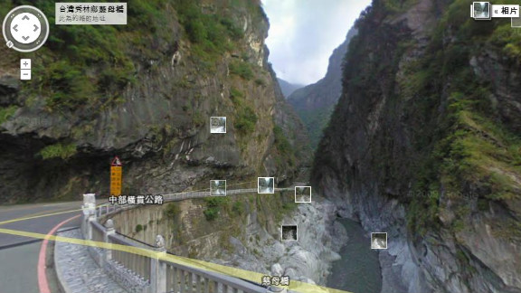 Taroko Gorge, in the Taroko National Park in Taiwan, was part of 250,000 miles added to Google