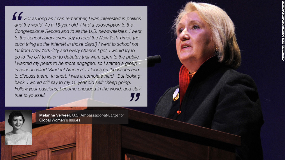 "In 2009, U.S. Secretary of State Hillary Clinton created a new role in the State Department -- Ambassador-at-Large for Global Women's Issues. Clinton's former Chief of Staff to the First Lady, Melanne Verveer was appointed to the role. Additionally Verveer had previously co-founded <a href=""http://www.vitalvoices.org/"" target=""_blank""><strong>Vital Voices Global Partnership</strong></a>, an international non-governmental organization supporting global women's leadership. Today, Ambassador Verveer leads the Office on Global Women's Issues."