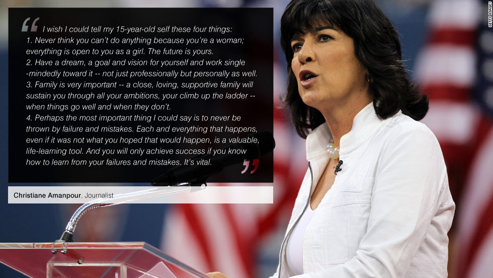 "With an outstanding career spanning three decades, <a href=""https://twitter.com/camanpour"" target=""_blank""><strong>Christiane Amanpour</a></strong> got her start in journalism as an entry-level assistant on CNN's international assignment desk in Atlanta. Working her way up to correspondent, Amanpour has since reported from every major world news event and hotspot. Today Amanpour is CNN's chief international correspondent and anchor of <a href=""http://amanpour.blogs.cnn.com/"" target=""_blank""><strong>Amanpour, a nightly foreign affairs program</a></strong>."