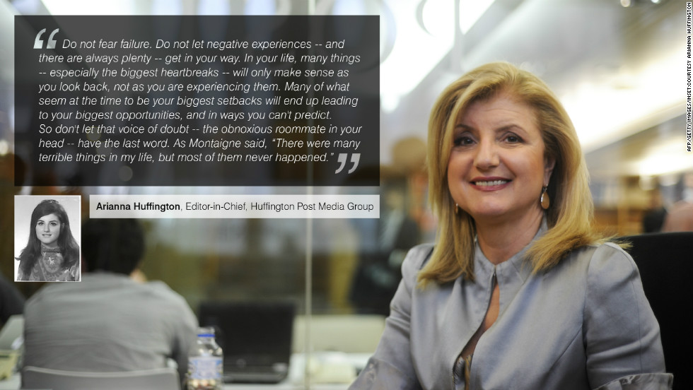 "Well known for her internet-based news sites, <a href=""https://twitter.com/ariannahuff"" target=""_blank""><strong>Arianna Huffington</strong></a> is an American author in addition to her roles as president and editor-in-chief of the Huffington Post Media Group."