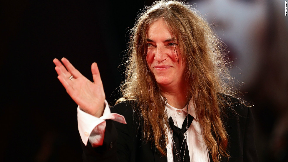 "Born in Chicago, Patti Smith's family eventually moved to southern New Jersey, where she grew up. In 1974, the Patti Smith Group debuted in New York -- merging rock with poetry. Smith, seen here in 2011, was interested in experimenting with new forms of music. Nonetheless, she did have one Top 20 hit, ""Because the Night,"" which was co-written by Bruce Springsteen."