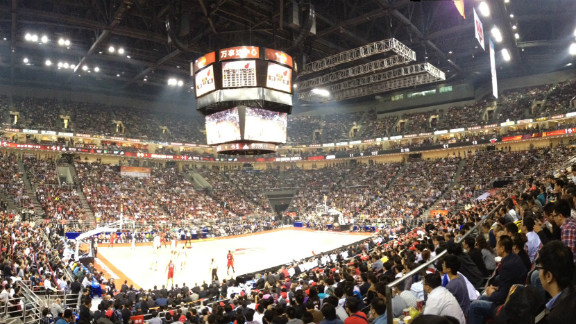 The match in Beijing was packed with Chinese fans.