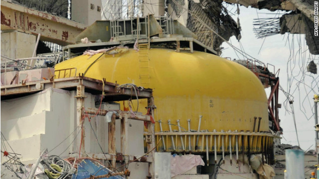 The now destroyed No. 4 reactor building at TEPCO's Fukushima Daiichi nuclear power plant, pictured on May 26, 2012.