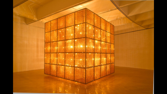 """""""Cube Light"""" (2008) is nearly 14 feet on each side and takes up an entire gallery."""