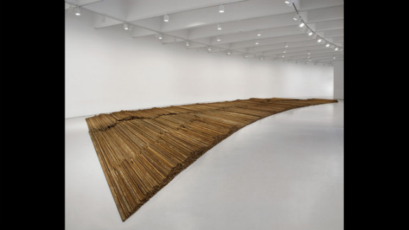 """""""Straight"""" (2008-12) is made up of 38 tons of steel rebar collected from buildings that collapsed in the Sichuan earthquake."""