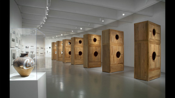 """""""Coca-Cola Vase"""" (2007), left, is a product of a new aesthetic, meant to replace older or outdated works, according to the museum. """"Moon Chest"""" (2008) is at right."""