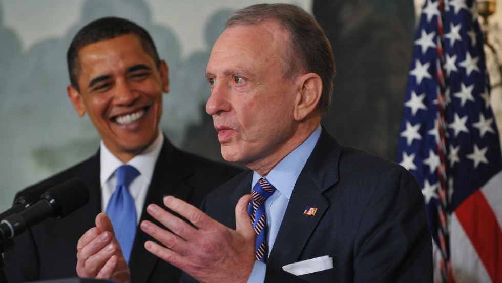 The late Arlen Specter, senator of Pennsylvania, was a Republican for much of his career until he announced on April 28, 2009, that he was switching to the Democratic Party.