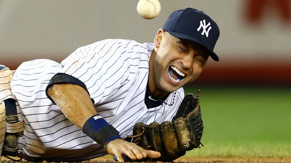 Derek Jeter in the top of the 12th inning against the Detroit Tigers