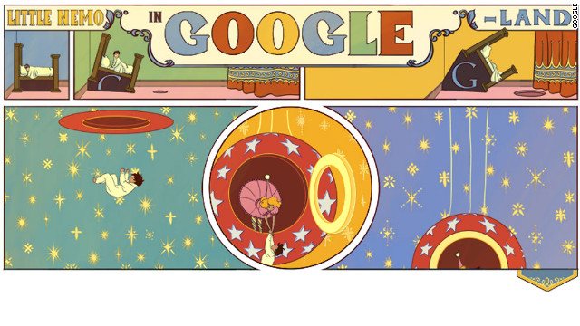 Google's search page Monday is an animated tribute to early-20th century illustrator Winsor McCay.