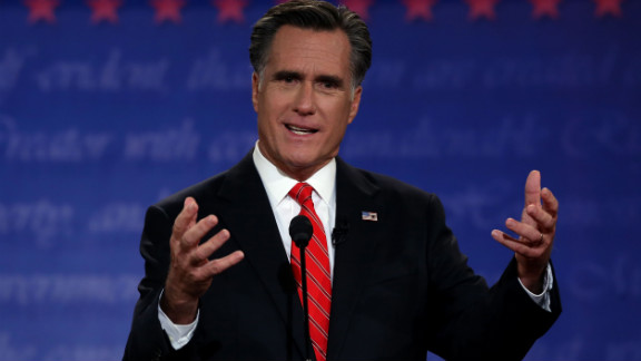 Mitt Romney opted for a red, diagonally striped tie during the first 2012 presidential debate at the University of Denver.