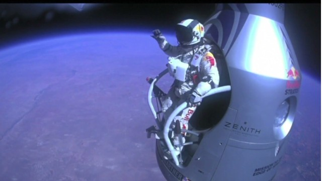 Free-falling from the edge of space