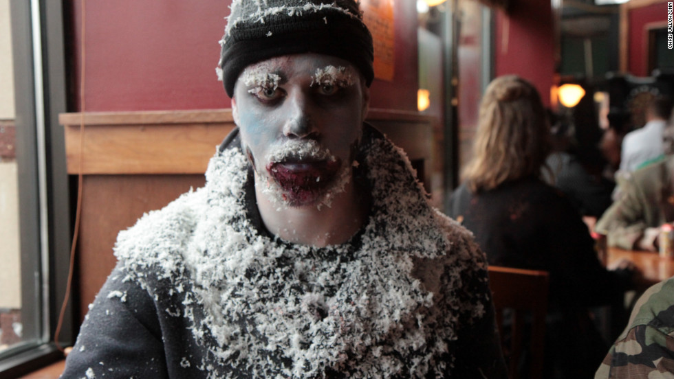 Participants in the 8th annual Twin Cities Zombie Pub Crawl took over the streets of Minneapolis-Saint Paul.