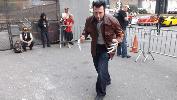 Diane Abela shot quite a few photos of fans in costume for iReport, for the second year in a row at New York Comic Con. She caught this man in character as Wolverine just outside the convention.