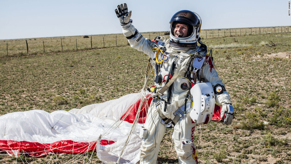 "Austrian Felix Baumgartner, known as ""Fearless Felix,"" broke a world record on Sunday when he jumped from 24 miles above the Earth. Because his stunt will likely inspire a film one day, here are our top picks for the role of Baumgartner."