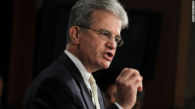 WASHINGTON - JULY 18: U.S. Sen. Tom Coburn (R-OK) speaks during a news conference July 18, 2011 on Capitol Hill in Washington, DC. Coburn held the news conference to unveil a $9 trillion deficit reduction plan. (Photo by Alex Wong/Getty Images)