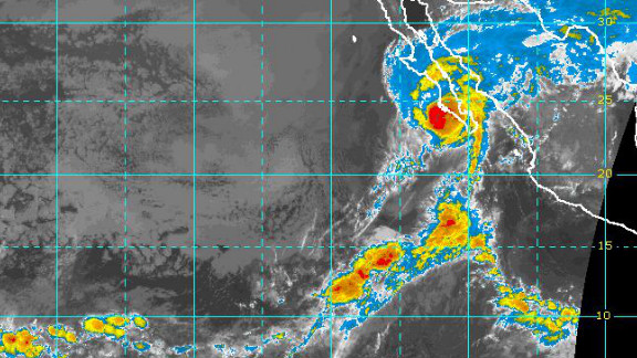 Hurricane Paul brushes past Baja California at 10:30 ET on Tuesday.