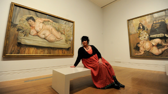 """British artist Lucien Freud caused a stir with his 1995 painting of Job Centre supervisor Sue Tilley, called """"Benefits Supervisor Sleeping."""" The naked woman weighed around 127kg at the time."""