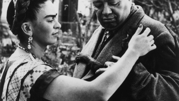 """Frida Kahlo was the wife and muse of  Mexican artist Diego Rivera. An acclaimed artist in her own right, today Frida is the more renowned of the pair, with actress Salma Hayek playing her in the 2002 biographical film """"Frida."""""""
