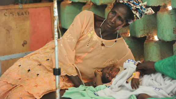 This health center in Kati, near the Malian capital of Bamako, has treated scores of malnourished children, victims of Mali