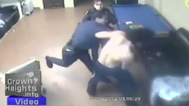 Cops brawl with man caught on tape