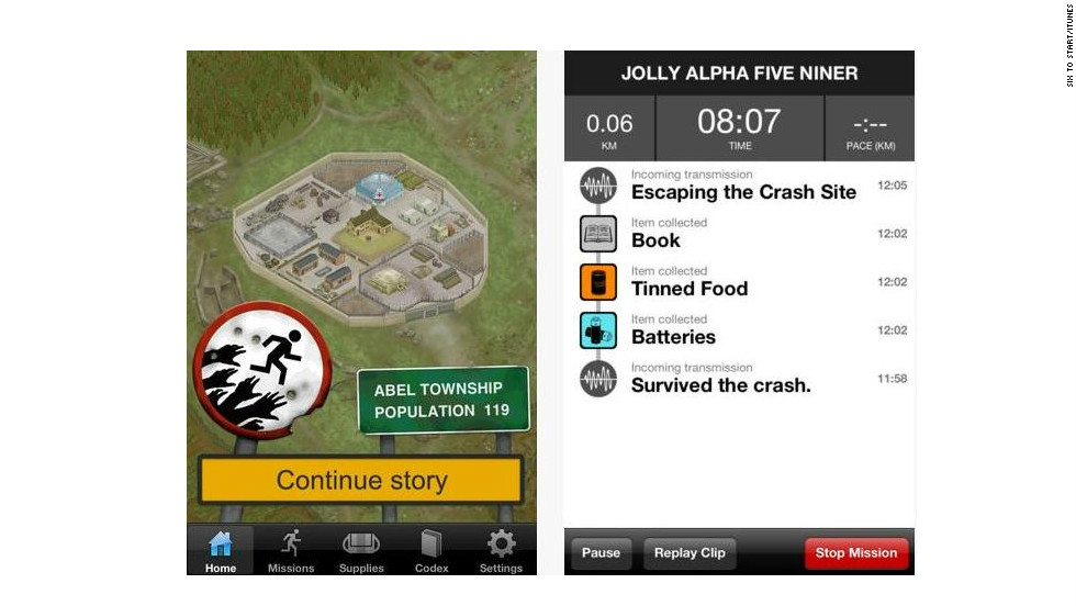 "<a href=""http://zombiesrungame.com"" target=""_blank"">Zombies, Run!</a>: ($7.99, zombiesrungame.com) Zombies, Run! takes an unconventional approach to cardio, putting users in the shoes of zombie survivors outrunning the apocalypse. There are more than 30 missions and the high price hasn't dampened online appetite for the app. (iPhone, iPod Touch, iPad, Android, Windows)"