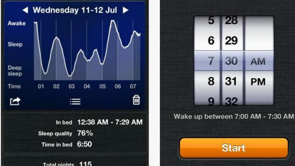 Sleep Cycle: ($ 0.99, sleepcycle.com) This alarm keeps track of users' sleeping patterns and then creates a 30-minute window around a pre-set alarm. Within that window, the app can then wake you from the lightest phase of sleep, which is the natural waking point. Even better -- based on user reviews, it works. (iPhone, iPod Touch, iPod)