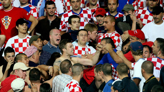 "The Croatian FA were ordered to pay a $16,000 fine after their fans were found guilty of ""displaying a racist banner and showing racist conduct during the Euro 2008 quarter-final tie against Turkey."