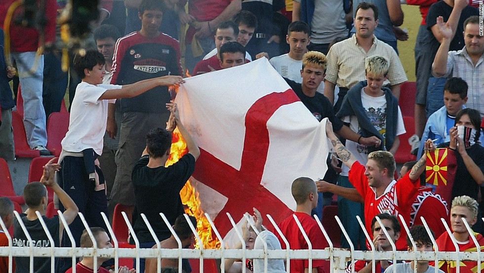 The Macedonia FA were fined $26,000 after fans racially abused England trio Ashley Cole, Sol Campbell and Emile Heskey during a qualifying game for Euro 2004.