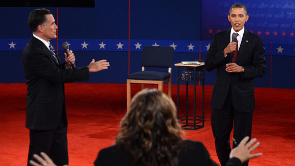 CNN's Candy Crowley moderates the second presidential debate between President Obama and Republican presidential candidate Mitt Romney.