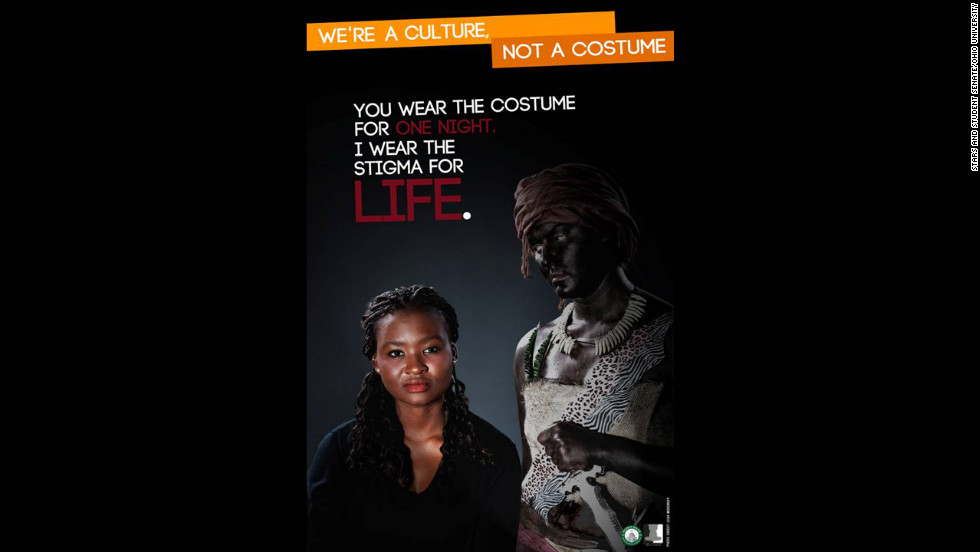 Another poster features an African stereotype.