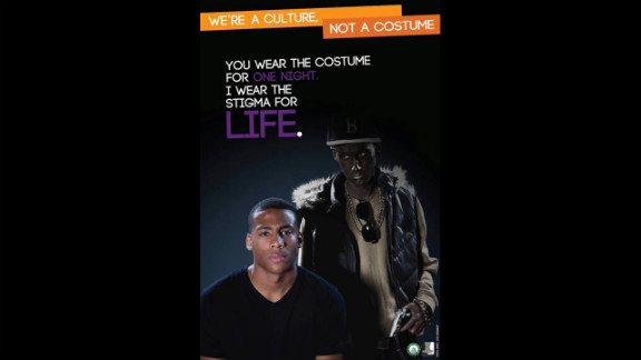 Ohio University students Taylor See and Leah Woodruff created the images for the campaign, which aims to foster dialogue about the effects  of appropriating racial stereotypes as Halloween costumes.