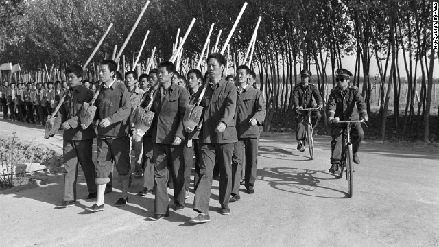 This photo dated 12 June 1986 shows the 'Re-education through labour' camp of Tuanhe near Beijing.
